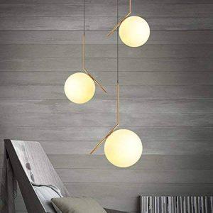KunMai Lampe suspension en laiton à lame en laiton moderne en verre brillant en blanc (petite) de la marque KunMai image 0 produit