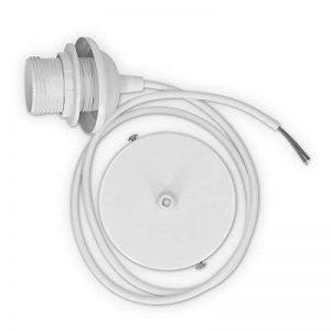 kwmobile Douille de lampe E27 - Douille avec bague de fixation plafond pour suspension ampoule - Câble blanc anneau de fixation et cordon 80 cm de la marque kwmobile image 0 produit