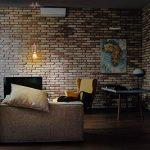 kwmobile Douille de lampe E27 - Suspension luminaire cordon textile 1,30 m et fixation murale - Plafonnier cuivre vintage de la marque kwmobile image 1 produit