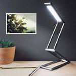 kwmobile Lampe de bureau LED - Luminaire pliable en aluminium sans fil avec micro-USB et crochet amovible - Lumière table de nuit salon - anthracite de la marque kwmobile image 1 produit
