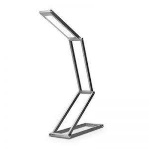 kwmobile Lampe de bureau LED - Luminaire pliable en aluminium sans fil avec micro-USB et crochet amovible - Lumière table de nuit salon - anthracite de la marque kwmobile image 0 produit