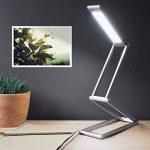 kwmobile Lampe de bureau LED - Luminaire pliable en aluminium sans fil avec micro-USB et crochet amovible - Lumière table de nuit salon - argenté de la marque kwmobile image 1 produit