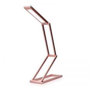 kwmobile Lampe de bureau LED - Luminaire pliable en aluminium sans fil avec micro-USB et crochet amovible - Lumière table de nuit salon - Rose de la marque kwmobile image 0 produit