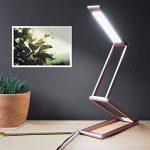 kwmobile Lampe de bureau LED - Luminaire pliable en aluminium sans fil avec micro-USB et crochet amovible - Lumière table de nuit salon - Rose de la marque kwmobile image 1 produit