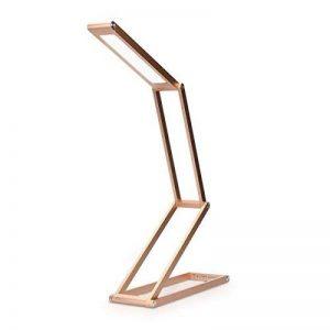 kwmobile Lampe de bureau LED - Luminaire pliable en aluminium sans fil avec micro-USB et crochet amovible - Lumière table de nuit salon - rose doré de la marque kwmobile image 0 produit