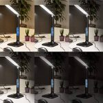 kwmobile Lampe de table LED - Lampe de bureau multifonction heure réveil calendrier température - Lumière réglable et port USB - Ecran LCD - blanc de la marque kwmobile image 4 produit