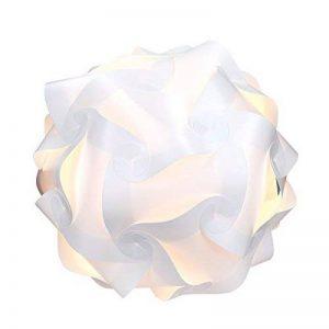 kwmobile Lampe puzzle abat-jour - Luminaire IQ plafond ou chevet - Lumière blanche - Taille S - Montage 30 pièces 15 modèles - Diamètre env. 20 cm de la marque kwmobile image 0 produit
