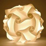 kwmobile Lampe puzzle abat-jour - Luminaire IQ plafond ou chevet - Lumière blanche - Taille S - Montage 30 pièces 15 modèles - Diamètre env. 20 cm de la marque kwmobile image 3 produit