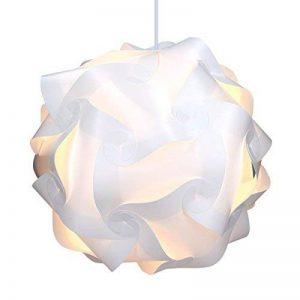 kwmobile Lampe puzzle abat-jour XL - Luminaire IQ 30 pcs 15 designs lumière blanche - Diamètre env 40 cm - Avec support plafond câble douille E27 de la marque kwmobile image 0 produit