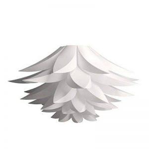 kwmobile Lampe puzzle design lotus - Abat-jour luminaire montage DIY - Lumière décoration fleurs salon chambre - Suspension ou lampadaire - blanc de la marque kwmobile image 0 produit