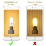 LAKES G9 5W LED Ampoule, Ampoule halogène équivalente à 40W, Sans gradation, 400LM, Sans scintillement, Sans stroboscope, Blanc chaud 3000K, Ampoule à économie d'énergie LED, 6-PACK de la marque LAKES image 4 produit