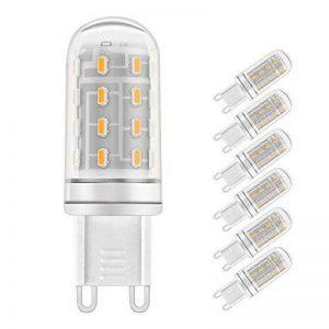 LAKES G9 5W LED Ampoule, Ampoule halogène équivalente à 40W, Sans gradation, 400LM, Sans scintillement, Sans stroboscope, Blanc chaud 3000K, Ampoule à économie d'énergie LED, 6-PACK de la marque LAKES image 0 produit