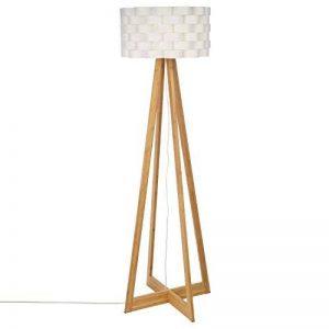 Lampadaire au style épuré - Pied en bambou et abat jour tressé aspect fibre de verre - de la marque Atmosphera image 0 produit