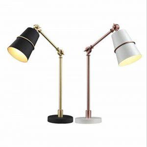 lampadaire de bureau vendange nordique industriel salon personnalité moderne chambre compteur de la lampe de chevet , rose gold + white de la marque NIHE image 0 produit