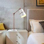 lampadaire de bureau vendange nordique industriel salon personnalité moderne chambre compteur de la lampe de chevet , rose gold + white de la marque NIHE image 3 produit