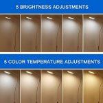 Lampadaire Dimmable, 9W LED Lampe Tactile Avec 5 Luminosité Et Eye-Cared Lumière, Nature Éclairage Blanc Pour La Lecture, L'écriture Et Étudier de la marque EFGS image 2 produit