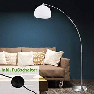 Lampadaire en métal - Arc - E27 - Chrome et blanc - 168x 124,4x 168cm - Briloner Leuchten de la marque Briloner Leuchten image 0 produit
