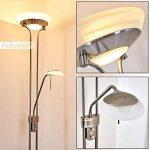 Lampadaire en métal de couleur nickel mat - Luminaire intensité variable - bras de lecture réglable - salon - séjour - chambre à coucher de la marque Hofstein image 1 produit