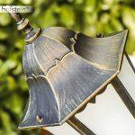 Lampadaire extérieur HONGKONG FROST en fonte d'aluminium de couleur bronze/doré et verres opales - Petit réverbère de jardin avec détecteur de mouvement - Luminaire pour chemin classique IP44 de la marque Hofstein image 3 produit