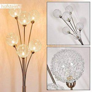 Lampadaire Kotlik à 6 boules en fil de fer - Lampe sur pied futuriste avec effets lumineux - Lampe en métal chromé - 6 douilles G9 - Lampadaire pour chambre - salon - salle à manger de la marque hofstein image 0 produit