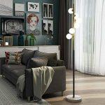Lampadaire Lampadaire En Spirale Post-moderne Lampe De Boule En Verre Couvercle Lampe De Sol En Marbre Pour La Chambre Salon Étude, Φ26cm H160cm G4 * 6 de la marque LXZ#Homegift image 4 produit