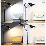 Lampadaire LED 3 en 1, lampe LED flexible à col de cygne avec base C-Clamp et trépied, lampes de lecture réglables en hauteur et en angle, lampe sur pied à économie d'énergie pour salons de la marque PAVLIT image 3 produit