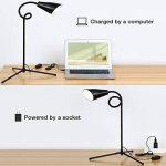 Lampadaire LED 3 en 1, lampe LED flexible à col de cygne avec base C-Clamp et trépied, lampes de lecture réglables en hauteur et en angle, lampe sur pied à économie d'énergie pour salons de la marque PAVLIT image 4 produit