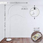 Lampadaire LED Fenioux métal blanc/chrome - Lampe à pied pour salon - chambre à coucher - bureau - Cette lampe est équipée d'un variateur d'intensité - La lampe est réglable en hauteur de la marque hofstein image 2 produit
