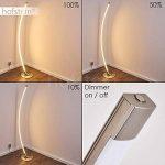 Lampadaire LED Playa en métal, nickel mat - luminaire pour salon - bureau - chambre à coucher - Cette lampe a un variateur tactile de la marque hofstein image 4 produit