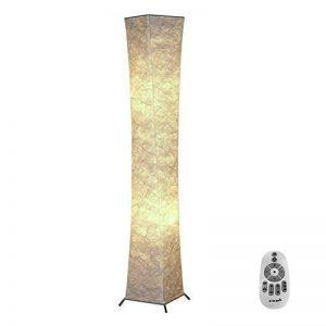 """Lampadaire à lumière douce avec télécommande, Fy-Light 52 """"RGB couleur changeante LED Tyvek tissu ombre dimmable et 2 ampoules LED intelligentes pour le salon, chambre à coucher salon, chambre à coucher(Euro Plug) de la marque Beautihome image 0 produit"""