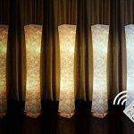 """Lampadaire à lumière douce avec télécommande, Fy-Light 52 """"RGB couleur changeante LED Tyvek tissu ombre dimmable et 2 ampoules LED intelligentes pour le salon, chambre à coucher salon, chambre à coucher(Euro Plug) de la marque Beautihome image 3 produit"""