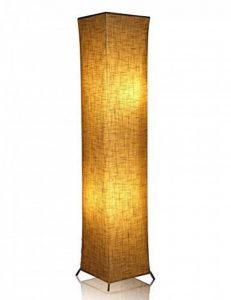 Lampadaire moderne avec des nuances de tissu, Fy-lumière 52 pouces Design contemporain debout LED Lampadaire pour salon, chambre à coucher, maison, bureau(Euro Plug) de la marque Beautihome image 0 produit