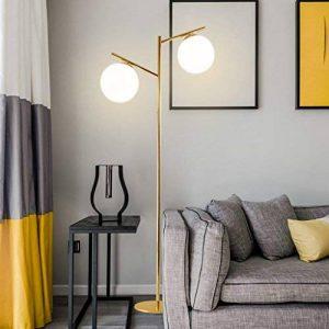 Lampadaire Moderne simple lampadaire personnalité canapé bureau lampe lumières boule verre salon vertical lampe Lampadaire dans le salon de la marque lampadaire image 0 produit