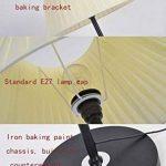 Lampadaire Nordic Iron - Village Européen LED Tissu Noir Lampadaire Vertical Lampadaire Moderne Salon Minimaliste Lampadaires Lampadaire Créatif Personality Study Studio Lampadaire Lampadaire (Interrupteur Bouton, Variateur) de la marque DFMD image 4 produit