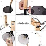 lampadaire pied metal noir TOP 8 image 3 produit