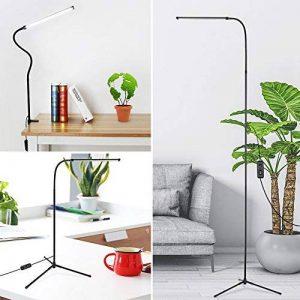 Lampadaire sur le pied & Lampe de table avec Niveaux de Luminosité ,Lampe LED sur Pied Dimmable avec col de cygne 360 °rotatif, Lampadaire de lecture pour Chambre, Salon, Bureau de la marque NACATIN image 0 produit