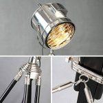 Lampadaire tripode de style industriel, lampadaire intérieur en métal - espace décoratif, tête de lampe à 360 degrés de réglage libre (Couleur : Argent) de la marque HALORI Lampadaires image 2 produit