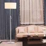 Lampadaires réglables en fer, Chaud Simple LED Tissu Vertical Lampadaire Moderne Creative Canapé Étage Table De Lumière Nordic Salon Chambre Étage Bureau Lumières (Color : White-Button switch) de la marque ZZW image 3 produit