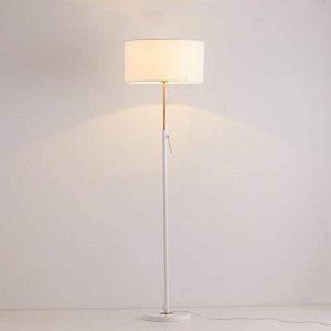 Lampadaires réglables en fer, Chaud Simple LED Tissu Vertical Lampadaire Moderne Creative Canapé Étage Table De Lumière Nordic Salon Chambre Étage Bureau Lumières (Color : White-Button switch) de la marque ZZW image 0 produit
