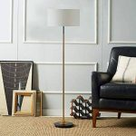 Lampadaires verticaux nordiques - Moderne et minimaliste à LED avec base en fer, chanvre/tissu blanc, canapé, lampe de lecture, lampadaire, lampe de table American Village de la marque DFMD image 2 produit