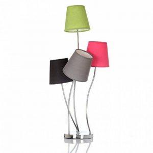 Lampe 4 têtes Hauteur 81 cm - 4 abat jours 4 couleurs de la marque Atmosphera image 0 produit