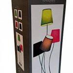 Lampe 4 têtes Hauteur 81 cm - 4 abat jours 4 couleurs de la marque Atmosphera image 1 produit