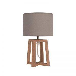 Lampe a poser/chevet Beker avec abat-jour hauteur 38 cm diametre 22 cm E14 40W naturel et taupe de la marque SEYNAVE image 0 produit