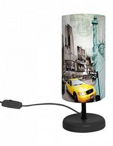 """LAMPE ABAT JOUR """"I LOVE NEW YORK"""" H:29cm de la marque F&T image 0 produit"""