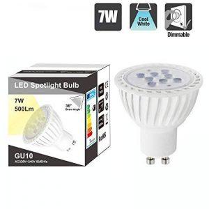 Lampe Ampoule Spot LED Dimmable GU10 7W Blanc Froid 5000K Haute Luminosité pour Spot Encastrable et Rail Luminaire LED Spot AC220~240V Lot de 1 de Enuotek de la marque ENUOTEK image 0 produit