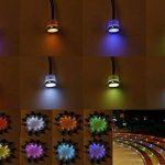 Lampe au Sol Spot Encastrable-Lumière réglable(RGB) étanche IP67 Ø45mm-éclairage pour terrasse, patio, chemin, mur, jardin, décoration, intérieur et extérieur(Lot de 10) de la marque INDARUN image 3 produit