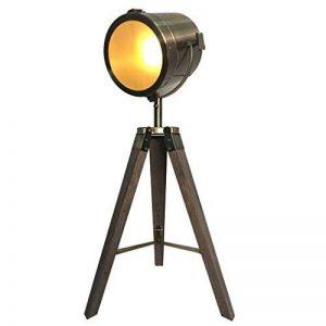 Lampe Cinema Vintage Industriel Sur Pied Scandinave Bois Design Spot a Poser de Table,Luminaire Retro Industriel Noir Salon Interieur,Ampoule Filament Non Incluse de la marque Focolux image 0 produit