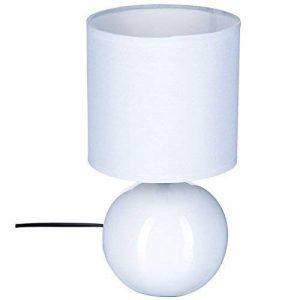 Lampe céramique boule 25cm blanche de la marque Atmosphera image 0 produit