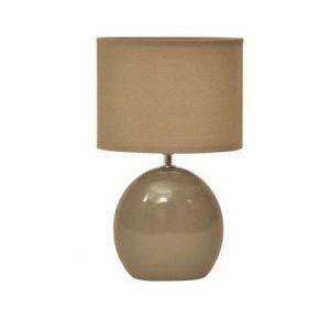 Lampe céramique pied ovale Taupe De chevet Table Déco de la marque Atmospera image 0 produit