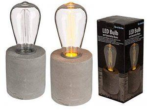 Lampe décorative rétro à LED sur socle ciment de la marque OOTB image 0 produit